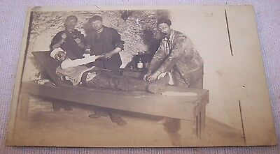 Scarce c1905 RPPC - Primitive Medical Treatment of Injured Man - Miner ? - NR