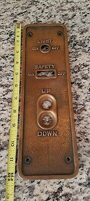 vintage antique brass copper bronze elevator switch panel otis? Art deco era