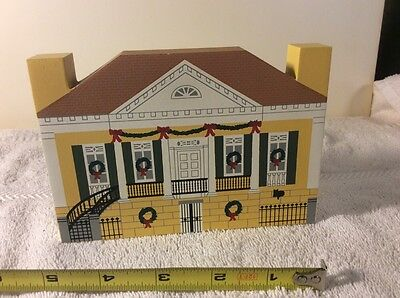 1994 The Cats Meow Village New Orleans Christmas Series Beauregard Keyes House