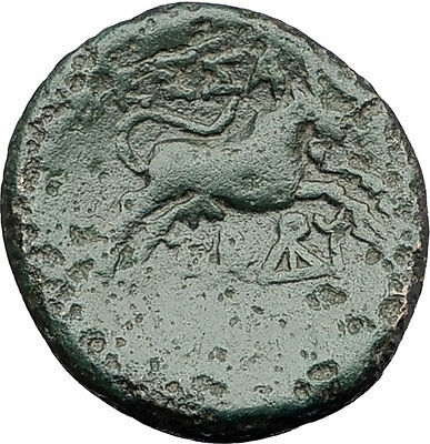 THESSALONICA in Macedonia 1stCenBC Authentic Ancient Greek Coin ZEUS BULL i62299