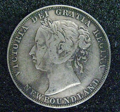 1894 Newfoundland 50 Cent Silver Coin-Low Mintage