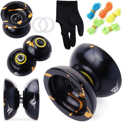 Magic YoYo N11 Aluminum Alloy Ball Professional Yo-Yo + 5xStrings + Glove TH11