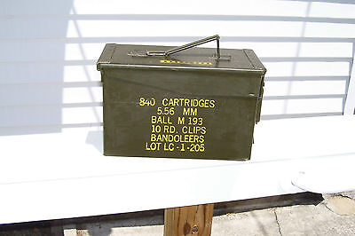 U S Military Ammo Box... 5.56 Mm 10 Rd. Clips