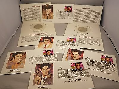 Elvis Presley coins and stamps collection