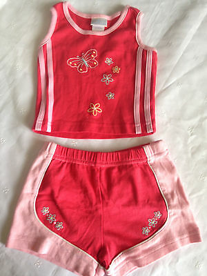 Agabang, Cute 2pc Tank & Shorts Set/Outfit, Girl's, Size 18 Months