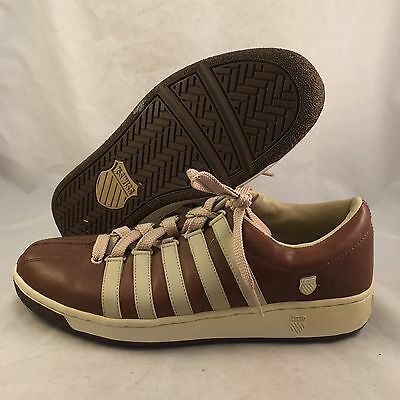 K Swiss Classic Brown Leather Low - Men's Size 9.5 - Great