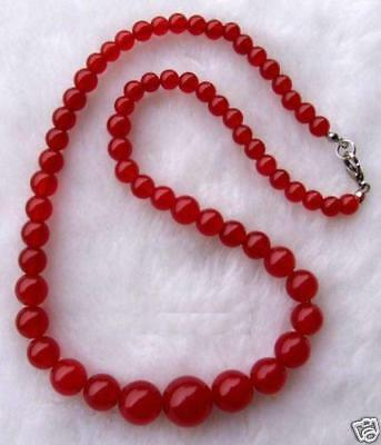 "Exquisite Red Ruby Gemstone Jewelry Necklace 17""  HK700"