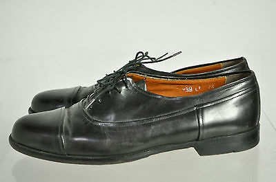 Avventura Black Handmade Leather Cap Toe Lace Up Oxford Shoes Size 7.5