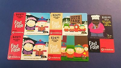 4 x South Park Phone Cards (Used condition)