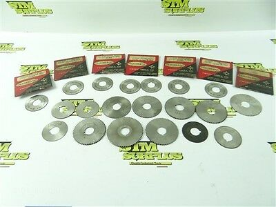 """Lot Of 20 Hss Slitting Slotting Saws .018"""" To 2.5Mm Cleveland Brown & Sharpe"""