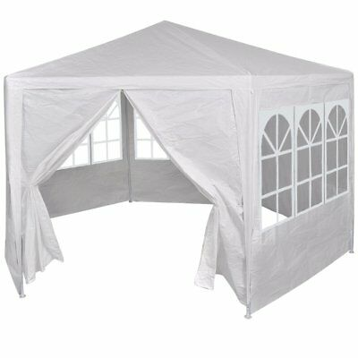 vidaXL Gazebo 6 Walls 4m White Party Tent Marquee Canopy Outdoor Wedding Event
