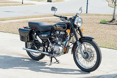 2009 Royal Enfield Bullet G5  2009 Royal Enfield Bullet 500, Black with Gold Pin Stripes, Excellent Condition