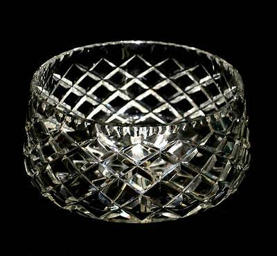 Vintage huge and heavy cut crystal master bowl in lovely condition with no chips