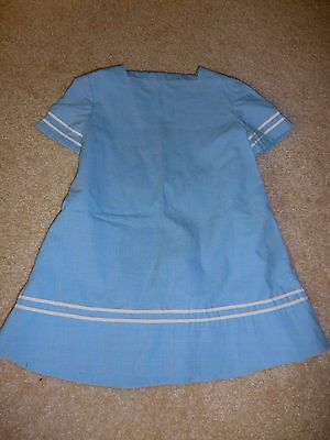 Vintage 1970's Blue Sailor Type Dress Size 6X (approximate) Handmade??
