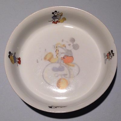 Rare Antique Mickey Mouse China Walter E. Disney Oswald the Rabbit Bowl Bavaria
