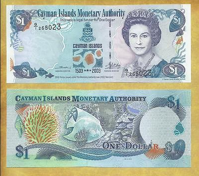Cayman Islands 1 Dollar 2003 P-30a Unc Currency Banknote ***USA SELLER**