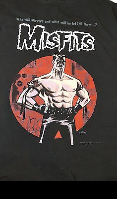 MISFITS t shirt Face of Fear 25 Years XL  Rare 2001 Excellent