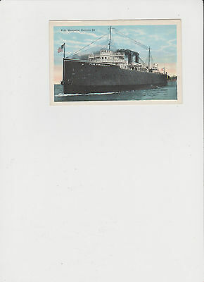 Vintage Post Card Pere Marquette Carferry 19