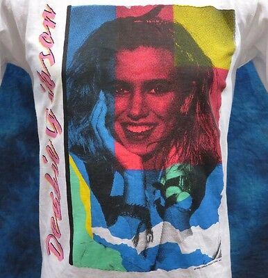 NOS vintage 80s DEBBIE GIBSON ELECTRIC YOUTH TOUR T-Shirt XS concert rock thin