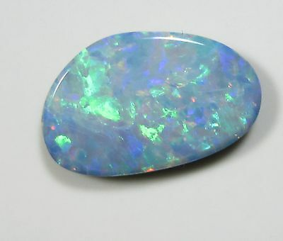 AUSTRALIAN OPAL GREEN ORANGE 1.34 Ct DOUBLET TOP FIRE QUALITY NATURAL GEMSTONE