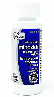 Member's Mark Minoxidil Topical Solution 5% Hair Regrowth Men, 1 2 or 3 Months
