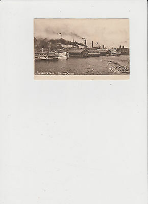 Circa 1900 The Water Front Toronto with Steamships  Vintage Post Card