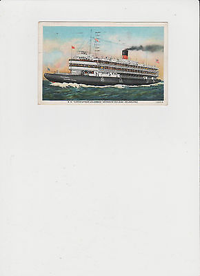 SS Christopher Columbus en route Chicago to Milwaukee Vintage Post Card