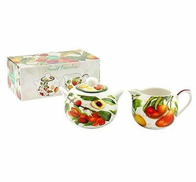 Fine China Sugar & latte/lattiera Fruit Garden design LP92306 (r5B)