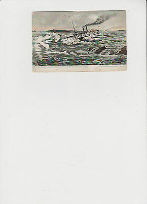 Shooting  Lachine Rapids St. Lawrence River Vintage Post Card