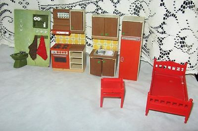 Vintage Lundby Doll Furniture 6 Pieces