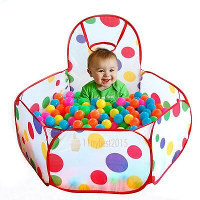 Foldable Child Portable Pit Ball Pool Outdoor Indoor Baby Kid Tent Playhouse Fun