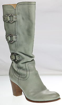 Women's FRYE Fiona 3 Strap Mint Leather Boots Size 10