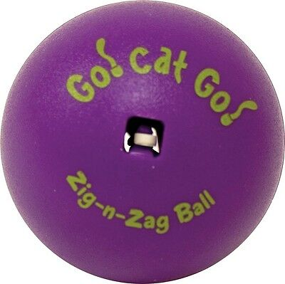 ZIG-N-ZAG BALL - Asst Colors Kitten Cat Toy Moves unpredictably when swatted