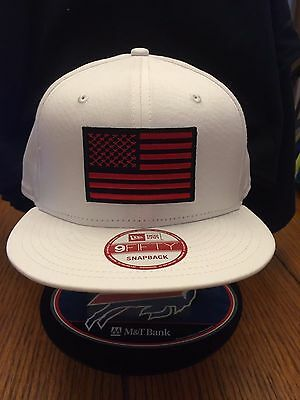 9f2c38784 NEW ERA NE400 White Snapback Hat/Cap With American Flag Patch Gold ...
