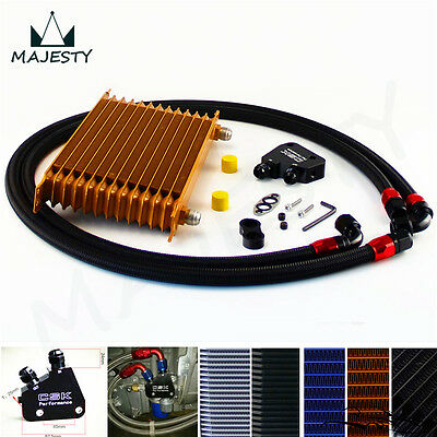 13 Row Trust Oil Cooler +Male adapter Kit For GM LS1 LS2 LS3 LSX VE HSV VZ Gold