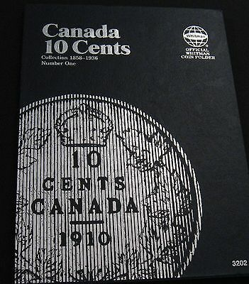 New Whitman Canada Ten Cents Album Book For 1858 - 1936  Canadian 10 Cent Coins