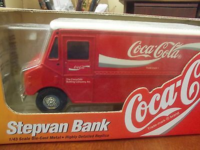 1996 ERTL Coca Cola Step Van COIN BANK, BNIB, 1/43 Scale Diecast Metal Replica