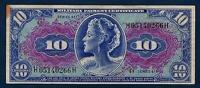 US Military Payment Certificate 611 Series 10 Dollars VF