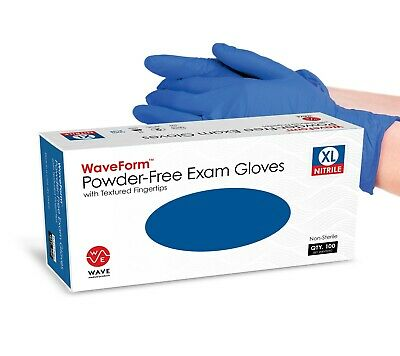 Case of 1000 Nitrile Gloves by Wave Medical - Size EXTRA LARGE XL - Latex Free