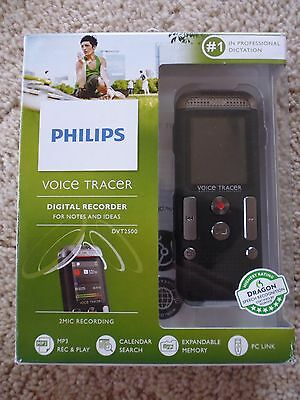 PHILIPS Voice Tracer Digital Recorder DVT2500 4GB Audio Dictaphone - New
