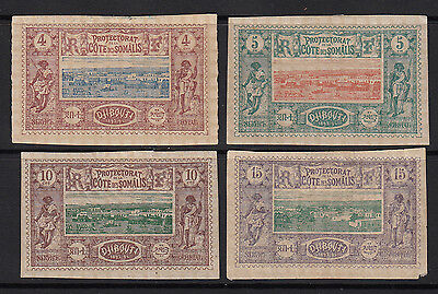 Somali Coast 1894 Stamps #8,9,11 and 12  MH  HICV
