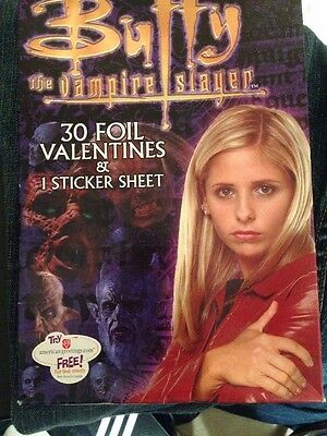 Buffy The Vampire Slayer 30 Foil Valentines And 1 Sticker Sheet Sealed