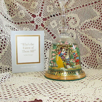 Snow White Franklin Mint Snow Globe Bell Whos The Fairest Of Them All 1992