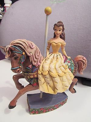 Jim Shore Disney Beauty and the Beast Belle Carousel Horse Princess of Knowledge