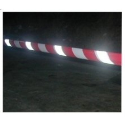 Reflective Safety Barrier Tape Red & White. Roll of 75mm x 250m