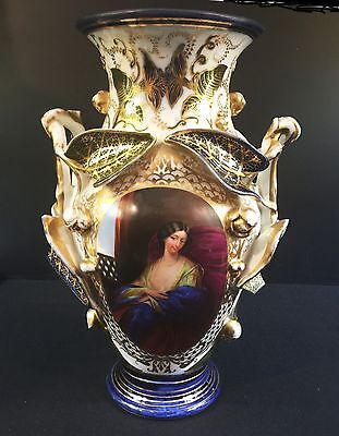 "Old Paris Vase--Exquisitely Done--So Lovely----""as Is""--Buy It Now!"