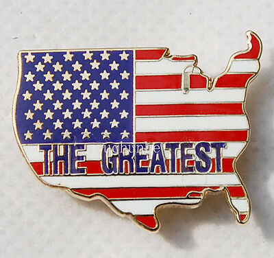 U.s. Us America Army Flag Map Matal Pin Badge The Greatest -32190