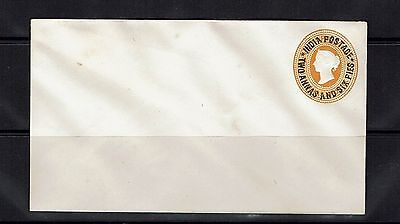 India - Victoria 2a6p on 2a6p Postal Stationary Unsed (Back Sealed) - Lot 031417