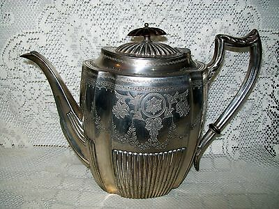 LARGE ANTIQUE ORNATE DANIEL & ARTER (D&A) EPBM COFFEE or TEA POT 18.5cm