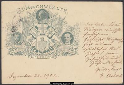 Victoria 1d Grey-Green Commonwealth Postcard, Used